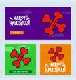happy halloween invitation design with bones vector image