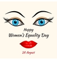 Happy Womens Equality Day vector image vector image