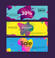 horizontal banner set with modern colorful fluid vector image vector image