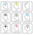 human thought and mind vector image vector image