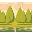 landscape tree vector image