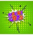 Lettering Mardi Gras green vector image vector image