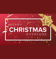 merry christmas card christmas greeting vector image
