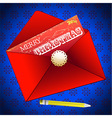 Merry Christmas envelope background vector image vector image