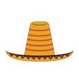 mexican hat symbol cartoon vector image