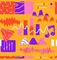 music app cartoon icon seamless pattern vector image vector image
