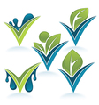 nature marks vector image vector image