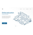 online education modern isometric line vector image