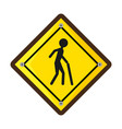 pedestrians on the road vector image vector image