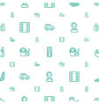 play icons pattern seamless white background vector image vector image