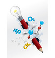 playful chemistry concept vector image vector image