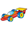 racing toy car red color isolated object on white vector image vector image