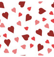red and pink coloring heart symbols on white vector image vector image