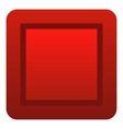 Red button icon flat style vector image vector image