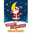 rock-n-roll santa singing santa claus - rock star vector image vector image
