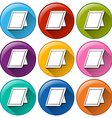 Round icons with picture frames vector image vector image