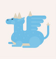 scary dragon with sharp horns and large wings vector image