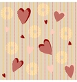 Seamless pattern with striped hearts