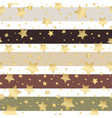 seamless striped retro pattern with gold stars vector image