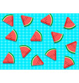 seamless watermelon pattern on swimming pool vector image