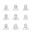 simple avatar icons vector image vector image