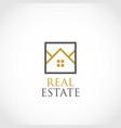 simple real estate logo symbol vector image vector image