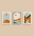 simply posters with with rivers desert sun vector image