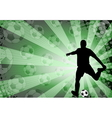 soccer player on abstract background vector image vector image