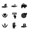Sponsorship icons set simple style vector image vector image