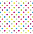 Tile polka dots background pattern or wallpaper vector image vector image