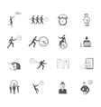 Time management icons sketch vector image vector image