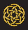 tribal symbol in circular mandala form vector image