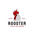 vintage rooster head logo design icon vector image vector image