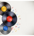 Vinyl record background vector image vector image