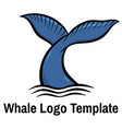 whale tale vector image vector image