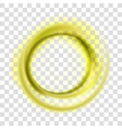 Yellow circle vector image vector image
