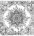 Zen Tangle flower mandala vector image