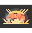 Athletes sumo fight vector image