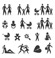 Family life icons vector image