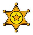 golden sheriff star badge icon icon cartoon vector image