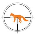 Animal target of hunting vector image