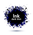 Realistic ink splash banner isolated on white vector image
