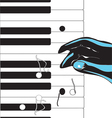 hand playing pianoVS vector image