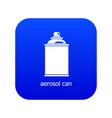 aerosol can icon blue vector image vector image