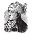 an english poet william cowper vintage engraving vector image vector image