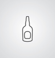 beer bottle outline symbol dark on white vector image vector image
