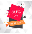 best sale 50 off white background image vector image