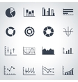 black diagrams icon set vector image vector image