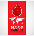 blood cancer awareness month logo icon vector image vector image