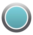 Blue round button icon flat style vector image